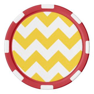 Chevron 1 Freesia Poker Chip Set