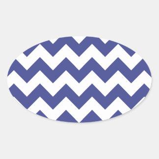 Chevron 1 Royal Blue Sticker