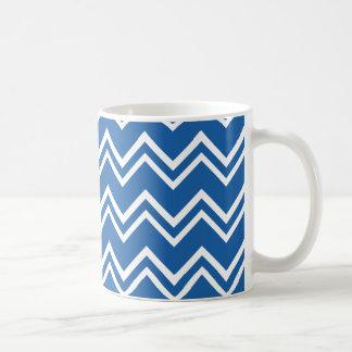 Chevron 2 Dazzling Blue Coffee Mugs