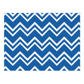 Chevron 2 Dazzling Blue Postcard