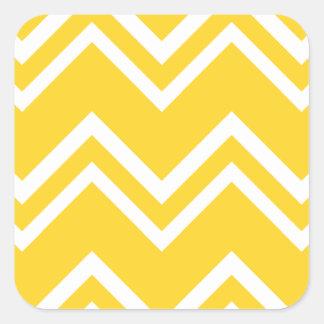 Chevron 2 Freesia Square Sticker