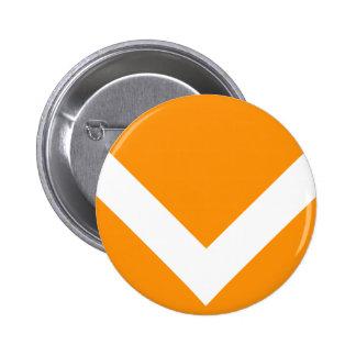 Chevron 2 Orange 6 Cm Round Badge