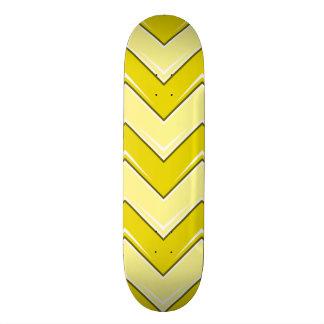 Chevron 8 Yellow Skate Deck