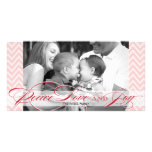 Chevron and Script Holiday Photo Card