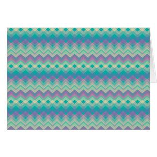 Chevron Aqua Pattern Greeting Card