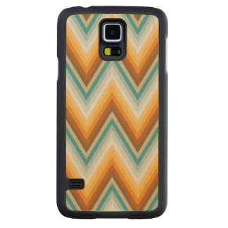 Chevron Background Pattern Carved Maple Galaxy S5 Case