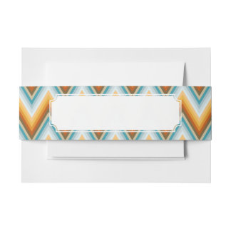 Chevron Background Pattern Invitation Belly Band