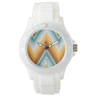 Chevron Background Pattern Wristwatch