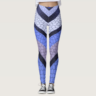 Chevron Blue Mosaic Leggings