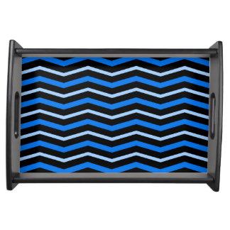 Chevron (blue) serving tray