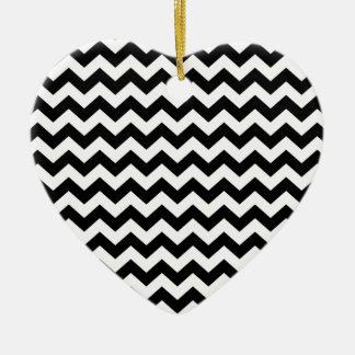 Chevron Ceramic Heart Decoration
