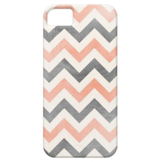 Chevron coral grey geometric iPhone 5 case