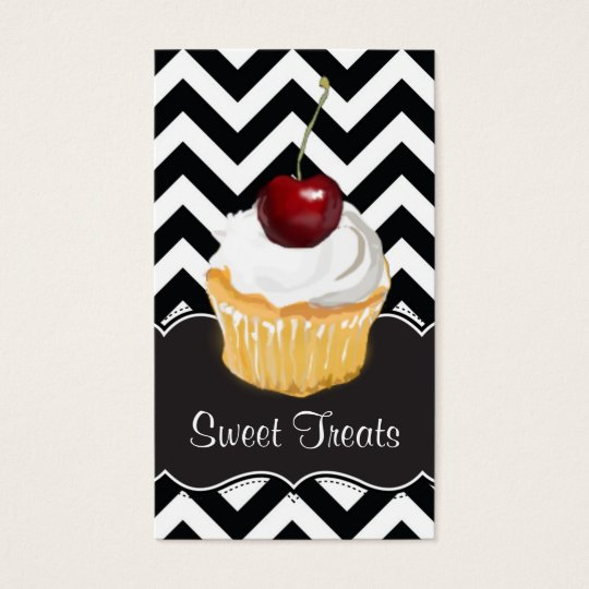 Chevron Cupcake Business Cards