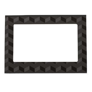 Chevron dark Pattern zig zag stripes Magnetic Picture Frame