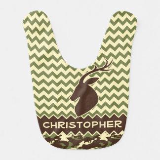 Chevron Deer Buck Camouflage Personalize Bibs
