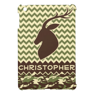 Chevron Deer Buck Camouflage Personalize iPad Mini Cover