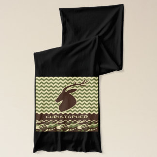 Chevron Deer Buck Camouflage Personalize Scarf