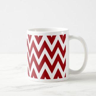 Chevron Dreams red and white chevron Coffee Coffee Mug