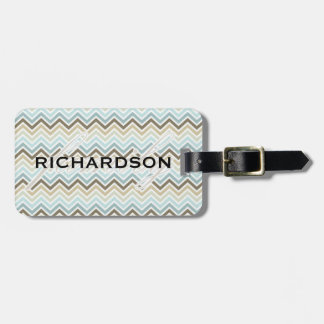Chevron Family with Family name Tags For Luggage