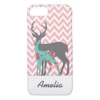 Chevron Floral Deer Iphone Case