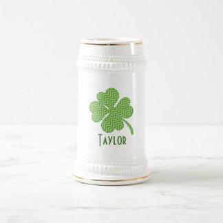 Chevron Four Leaf Clover Beer Stein