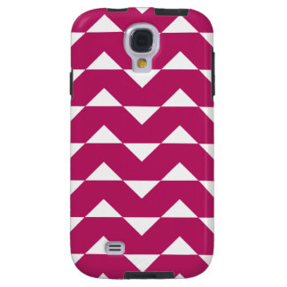 Chevron Galaxy S4 Case - Madder Carmine Pattern