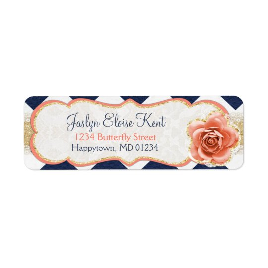 Chevron Garden Return Address Labels