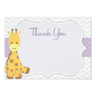 Chevron Giraffe Baby Shower Thank You Card