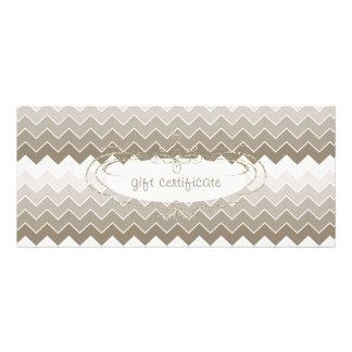 Chevron Glitter : Gift Certificate 10 Cm X 23 Cm Rack Card