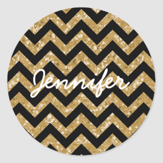 Chevron Glitter Look Stickers