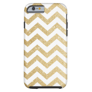 Chevron Gold Faux Glitter Phone Case Tough iPhone 6 Case