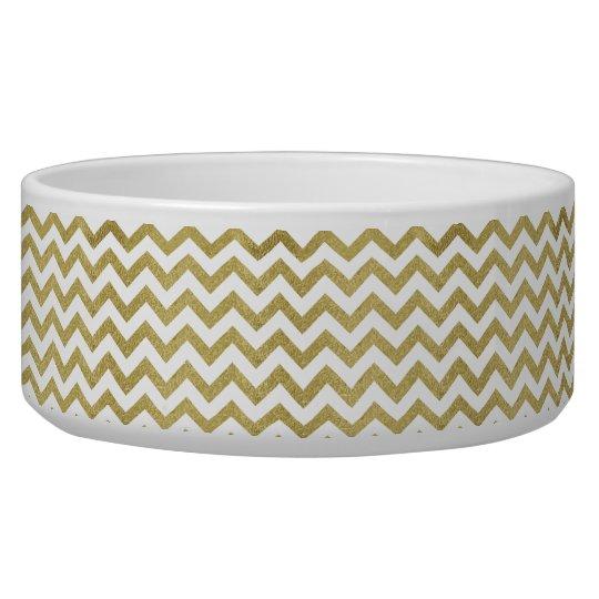 chevron,gold,zig zag,trendy,girly,cute,elegant,fun pet water bowl