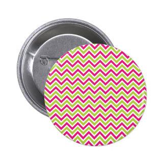 Chevron green & pink zigzag pattern colourful fun