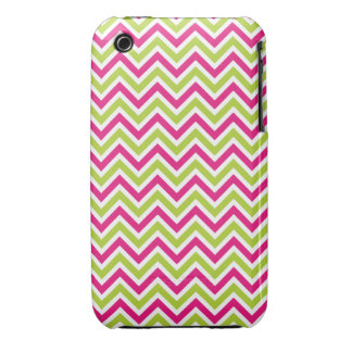 Chevron green pink zigzag pattern funky fun bright Case-Mate iPhone 3 cases