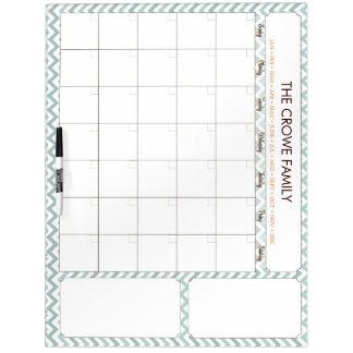 Chevron Infinity Calendar Dry Erase Board