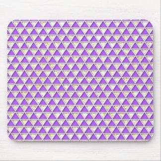 Chevron lavender white  chic elegant pattern mousepads