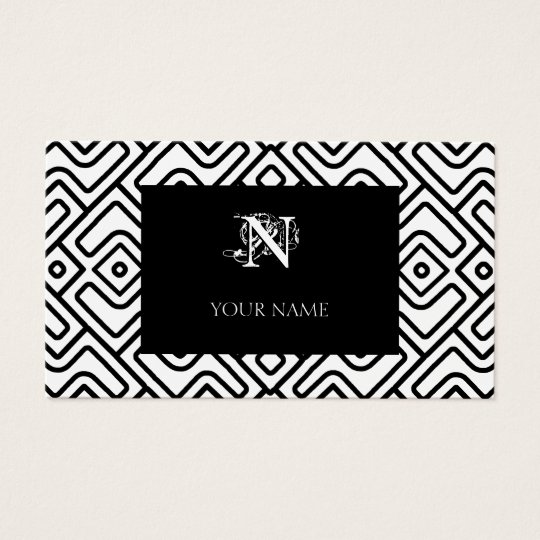 Chevron Maze Pattern Business Card