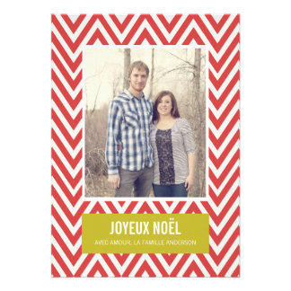 Chevron Merry Christmas Photo Flat Cards