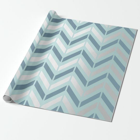 Chevron Metallic Graphite Silver Tiffany Navy Blue Wrapping