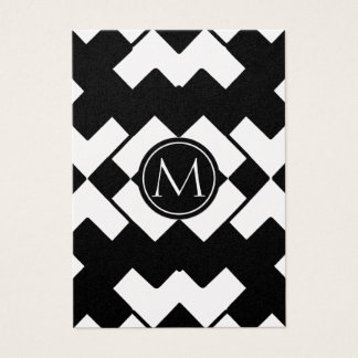 Chevron Modern Monogram. Business Card