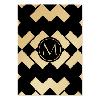 Chevron Modern Monogram. Pack Of Chubby Business Cards