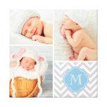 Chevron Monogram Baby Photo Collage Nursery Art
