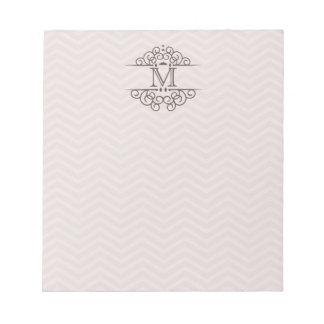 Chevron Monogram Personalize To Do Notepad | Blush