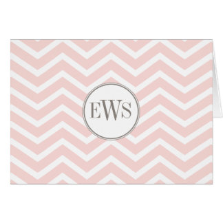 Chevron Monogram Personalized Note Card
