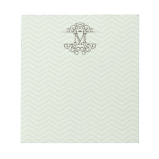 Chevron Monogram Personalized To Do Notepad | Mint