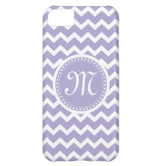Chevron Monogram Retro Purple and White iPhone 5C Case
