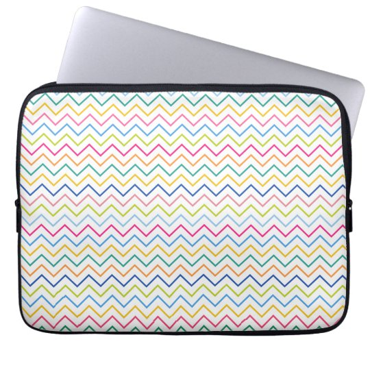 Chevron Multicolor Stripes Laptop Sleeve