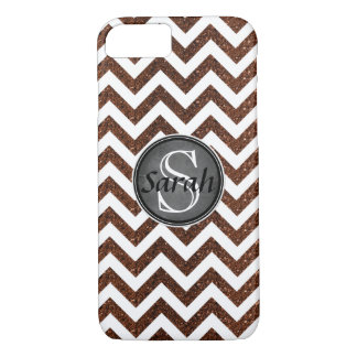 Chevron Nameplate - Copper Glitter iPhone 8/7 Case
