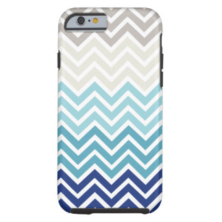 Chevron Nautical Color Scheme Tough iPhone 6 Case