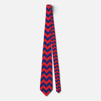 Chevron | Navy Blue & Red | Any Type/Size | Custom Tie